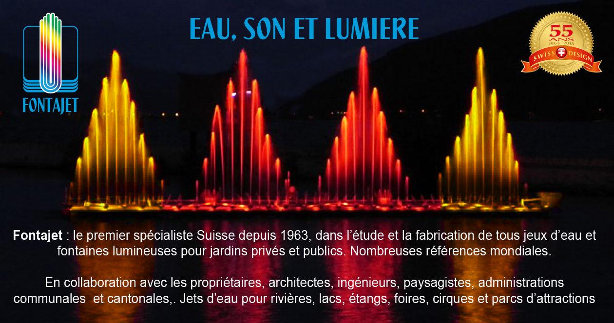 FONTAINES FONTAJET | Fontaines lumineuses et jets d\'eau